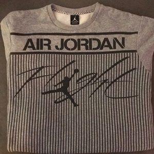 🏀 Air Jordan Men's Gray & Black Sweatshirt - XXL